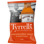 Tyrrells Handcooked Worcester Sauce and Sundried Tomato Crisps 150g