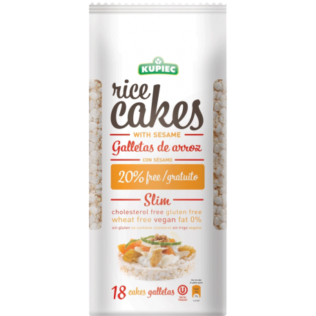 Kupiec Thin Rice Cakes with Sesame Galletas de Arroz 84g