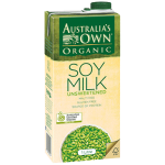 Australia's Own Organic Unsweetened Soy Mik 1L