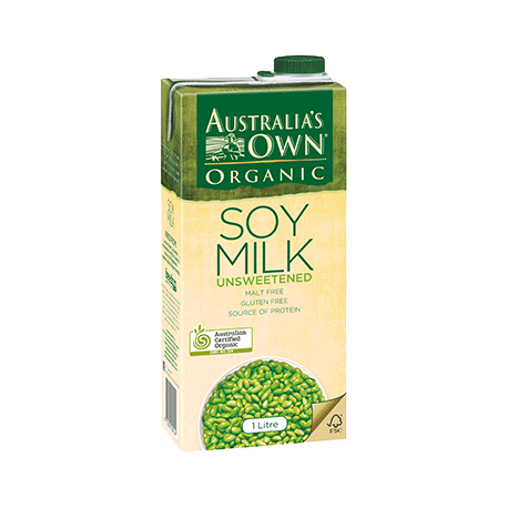 Australia's Own Organic Unsweetened Soy Mik 1L