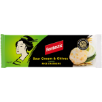 Fantastic Sour Cream & Chives Rice Crackers 100g