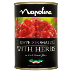 Napolina Chopped Tomatoes with Herbs 400g