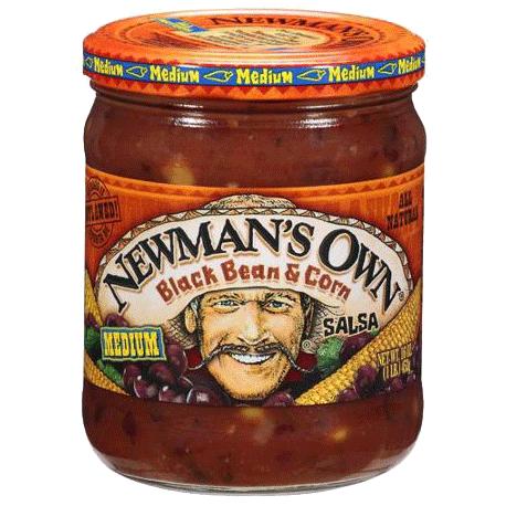 Newman's Own Medium Salsa Black Bean & Corn 453g