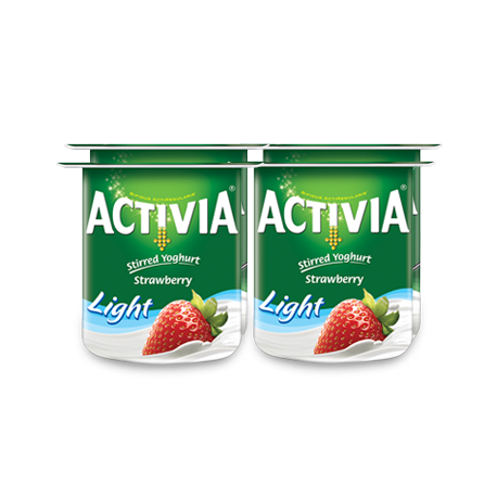 Activia Stirred Yogurt Strawberry Light 4x120g
