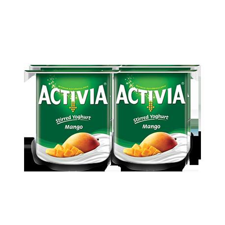 Activia Stirred Yogurt Mango 4x120g