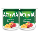 Activia Stirred Yogurt Peach & Apricot 4x120g