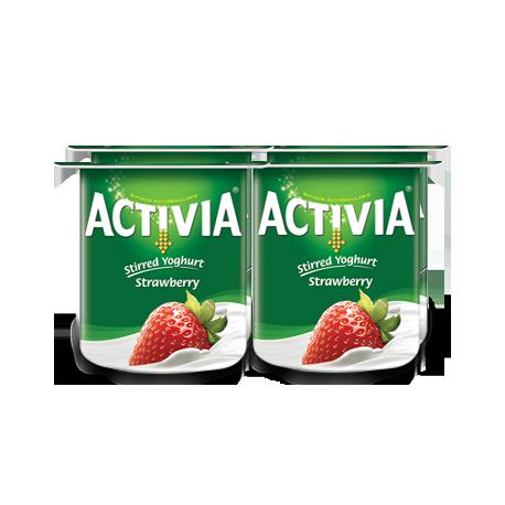Activia Stirred Yogurt Strawberry 4x120g