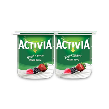 Activia Stirred Yoghurt Mix Berry 4x120g