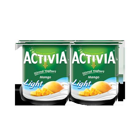 Activia Stirred Yoghurt Mango Light 4x120g