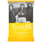 Tyrrell's Mature Cheddar Cheese & Chives Handcooked English Crisps 150g