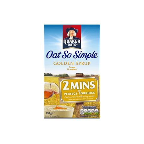 Quaker Oats So Simple Golden Syrup Porridge 10 Sachets 360g