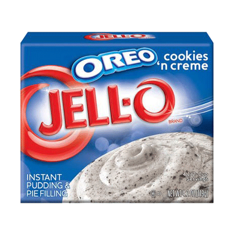 Jell-O Oreo Cookies'n Creme Instant Pudding & Pie Filling 119g