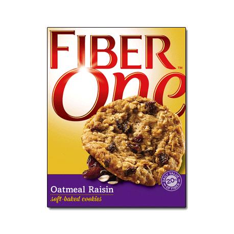 General Mills Fiber One Oathmeal Raisin Soft Baked Cookies 187g
