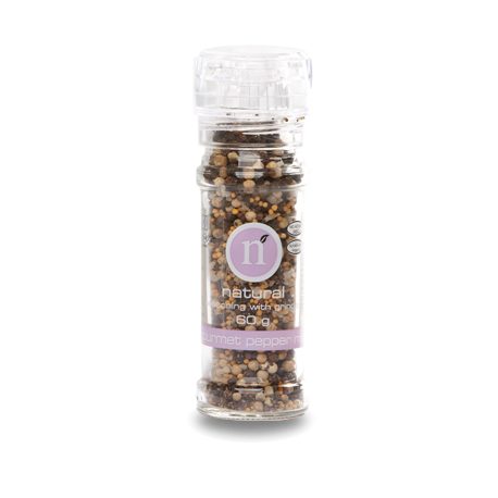 Natural Gourmet Pepper Mix with Grinder 50g