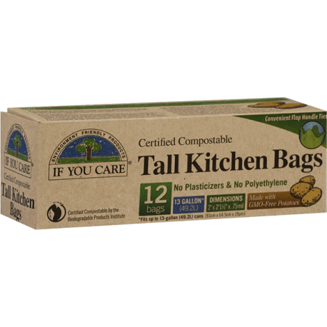 If You Care Tall Kitchen Bags 12 Certified Compostable Bags