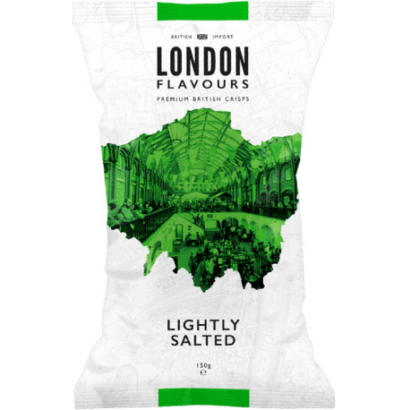 London Flavours Lightly Salted Potato Chips 150g
