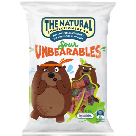 The Natural Confectionery Co. Sour Unbearables 230g