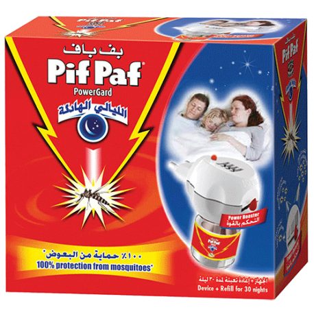 Pif Paf Peaceful Nights Liquid Mosquito Killer Electrical Device 30 Nights 28ml
