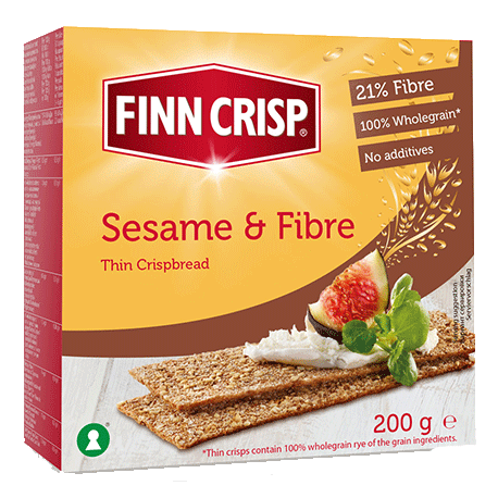 Finn Crisps Sesame & Fibre Thin Crispbread 200g