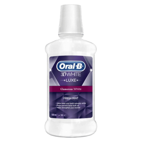 Oral B 3D White Luxe Glamourous Shine Rinse 500ml
