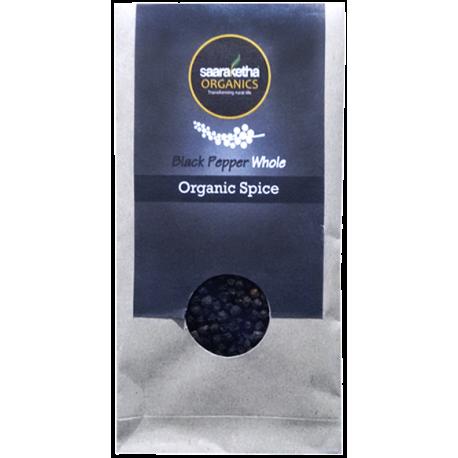 Saaraketha Organic Black Pepper Whole 50g