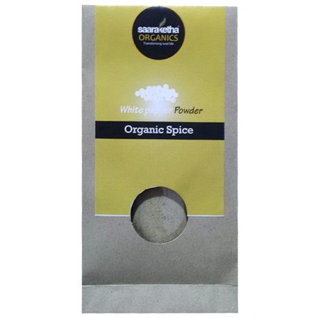Saaraketha Organic White Pepper Powder 50g