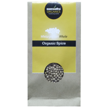 Saaraketha Organic White Pepper Whole
