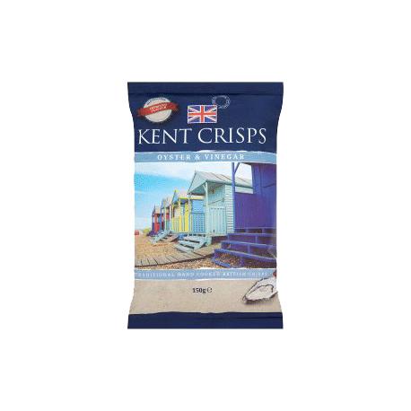 Kent Crisps Oyster & Vinegar Hand Cooked Crisps 150g