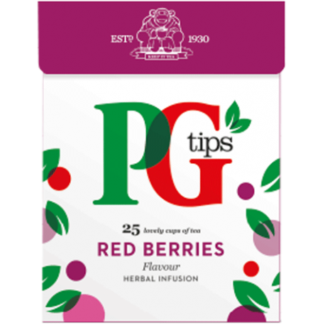 PG Tips Red Berries 25 Pyramid Teabags