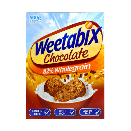 Weetabix Chocolate Whole Grain Wheat Biscuits 500g