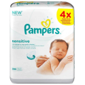 Pampers Baby 224 Wipes Sensitive, 4 Economy Packs