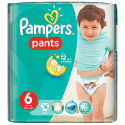 Pampers Pants 6, XXL 16+ kg, 19 Diapers
