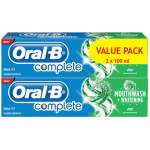 Oral B Value Pack Complete Extreme Mint Mouthwash+Whitening Toothpaste 2x100ml