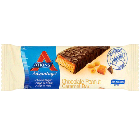 Atkins Chocolate Peanute Caramela Bar 35g