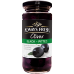 Always Fresh Black Pitted Olives 220g