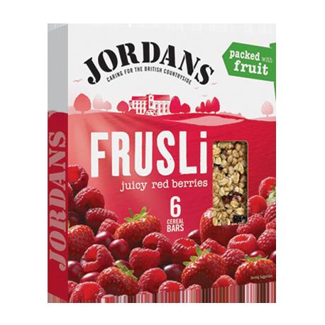 Jordans Frusli Juicy Red Berries Cereal Bars 6x30g
