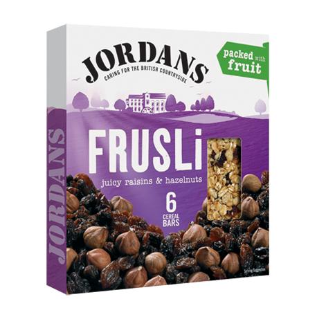 Jordans Frusli Juicy Raisins & Hazelnuts Cereal Bars 6x30g