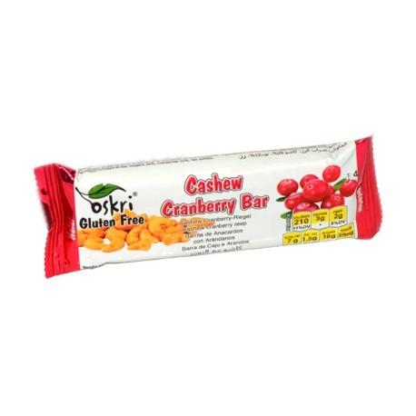 Oskri Gluten Free Cashew Cranberry Bar 53g