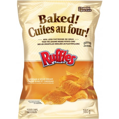 Ruffles Baked Cheddar & Sour Cream 170.1g