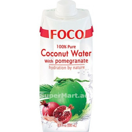 Foco Pure Coconut Water with Pomegranate 500ml