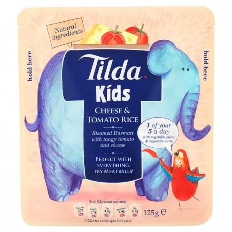 Tilda Kids Cheese & Tomato Steamed Basmati Rice 125g