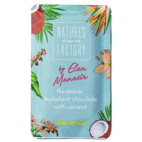 Natures Own Factory by Elen Manasir Handmade Buckwheat Chocolate with Coconut 20G