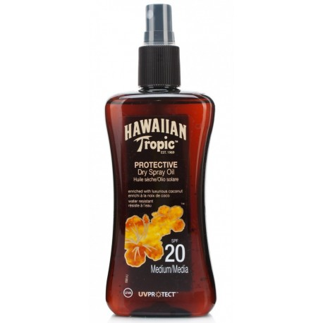 Hawaiian Tropic Protective Dry Spray Oil SPF20 200ml