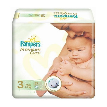 Pampers Premium Care 3 Midi 4-9kg 27 Diapers
