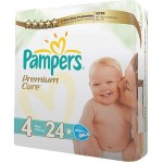 Pampers Premium Care 4 Maxi 7-18kg 24 Diapers
