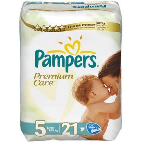Pampers Premium Care 5 Junior 11-25kg 21 Diapers