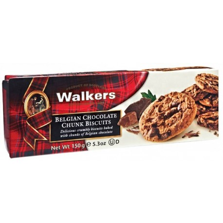 Walkers Belgian Chocolate Chunk Biscuits 150g