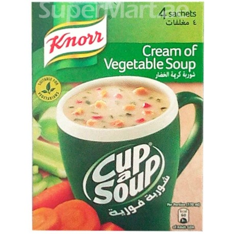 Knorr Cream of Vegetable Cup a Soup 4 Sachets 72g