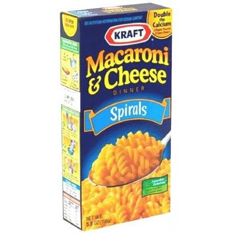 Kraft Macaroni & Cheese Dinner Spirals 156g
