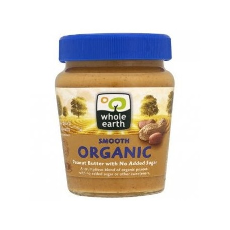 Whole Earth Crunchy Organic Peanut Butter 340g